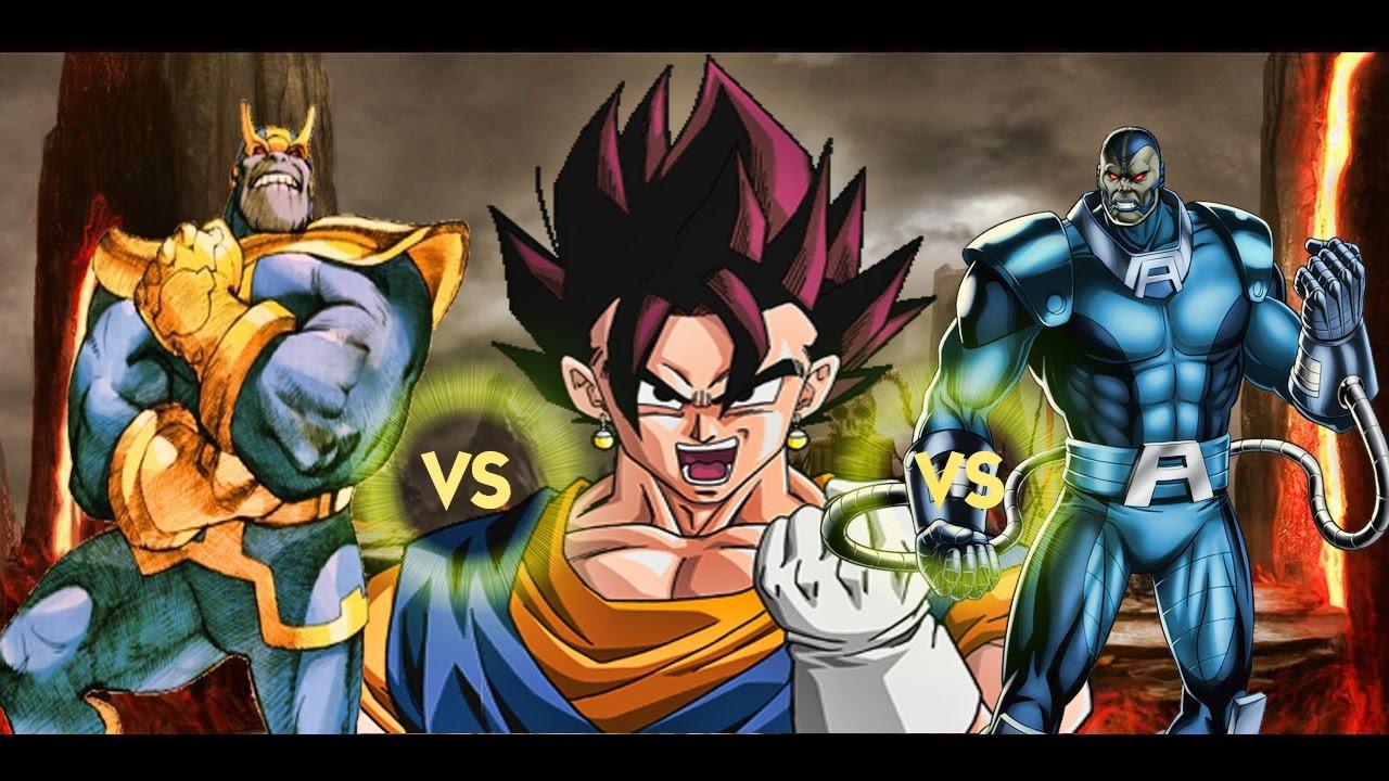Goku Vs Thanos: Vegito Vs Ultron,Brainiac, Apocalypse, Thanos