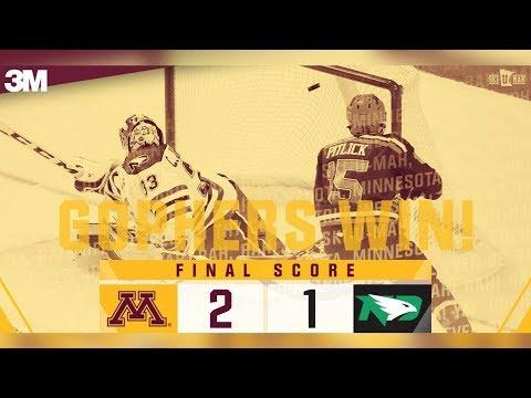Highlights: Gopher Hockey Takes Down North Dakota 2-1
