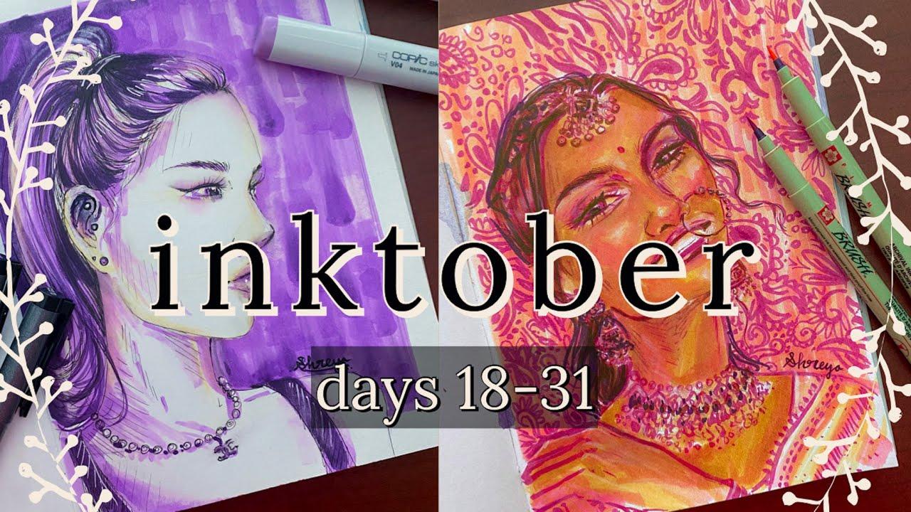 [VIDEO] inktober progress   days 18-31