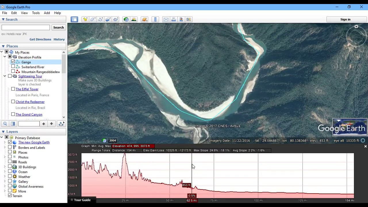 Generate Elevation Profile In Google Earth Pro Case Study Of - Elevation tool google earth