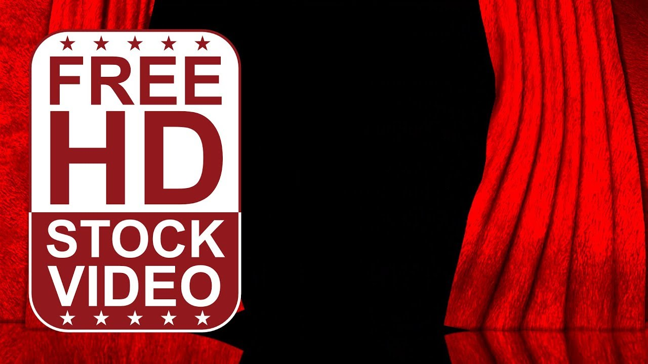 FREE HD themed title backgrounds – red curtains open on black ... for Black Curtains Texture  45jwn
