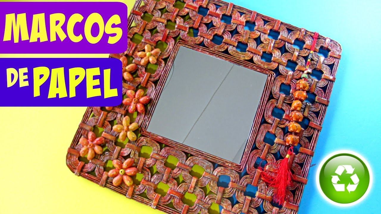 DIY: Marco hecho con papel. How to make paper frame. - YouTube