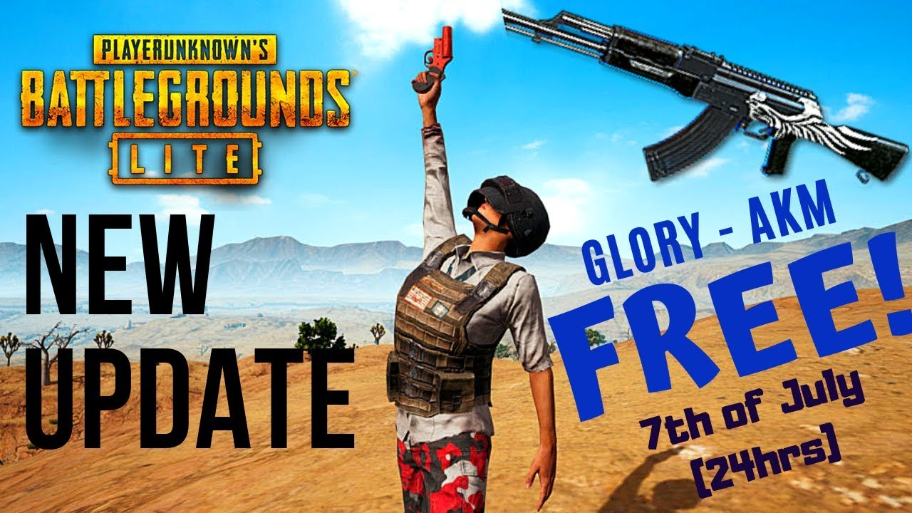 PUBG LITE (PC) New Update + Glory - AKM Skin for FREE!! (JUST 24HRS HURRY  UP!!)