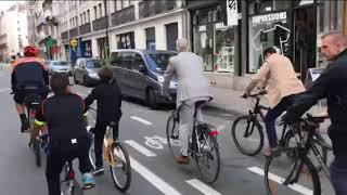 Roi de Belgique á vélo,journée sans voiture