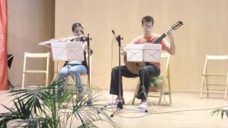 Dúo Carmen Ropero  (Flauta) y Samuel López (Guitarra).MOV
