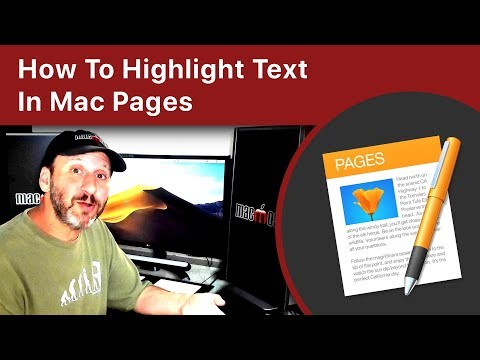 How To Highlight Text In Mac Pages
