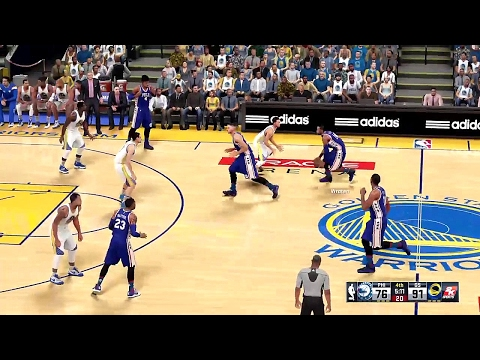 NBA 2K16 Gameplay: Philadelphia 76ers vs Golden State Warriors