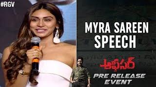 Myra Sareen Speech | Officer Pre Release Event | Nagarjuna | RGV  | Ram Gopal Varma | #Officer