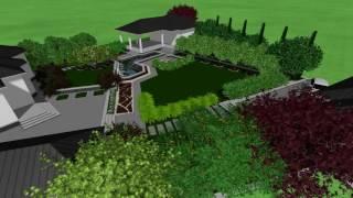 3D визуализация ландшафтного дизайна. 20 соток(, 2016-09-29T09:05:42.000Z)