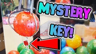 MYSTERY KEY CLAW MACHINE WIN! || What Will It Unlock?
