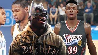NBA 2k15 Philadelphia 76ers Challenge - QJBatman RAGING! Cooks Thunder w/Grant! Online Ranked