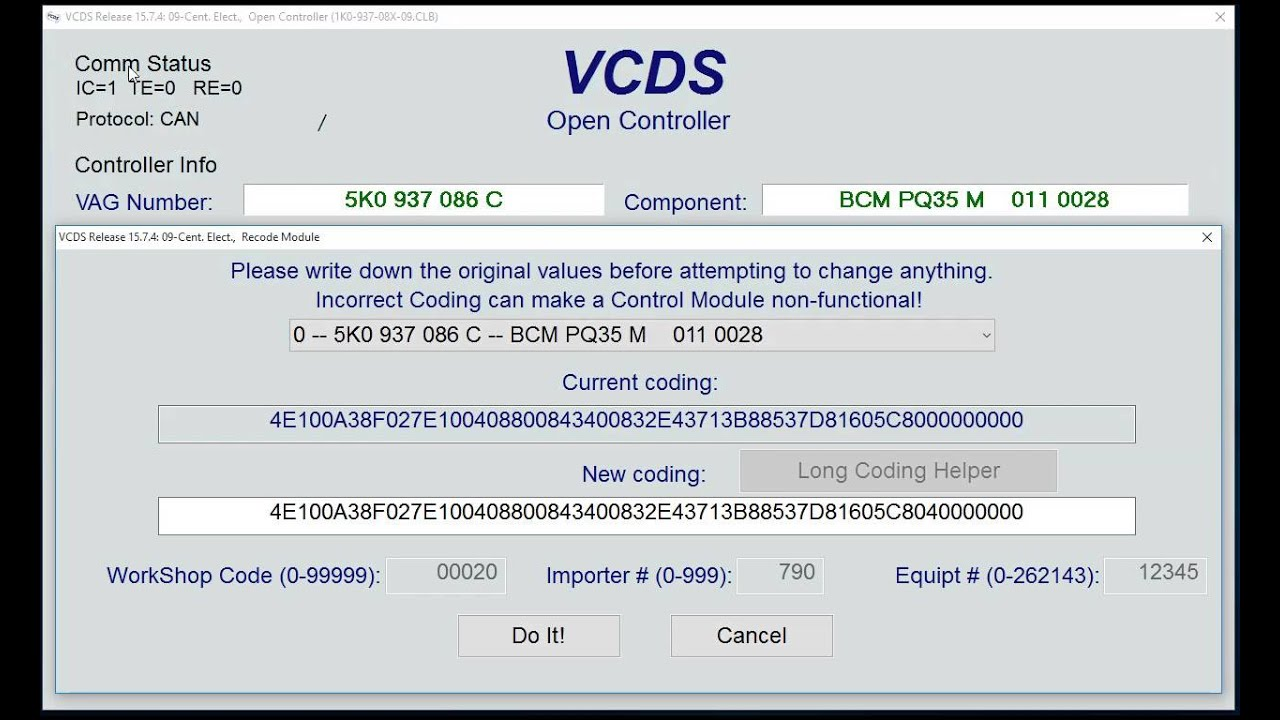 VCDS How To - Activate / Deactivate Cornering Light With Reverse Gear - VW  Scirocco MK3 by Abbott Automotive