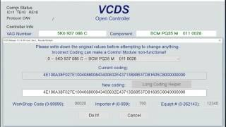 VCDS How To - Activate / Deactivate Cornering Light With