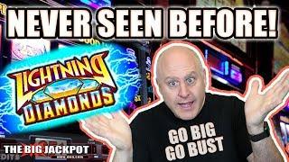 Never Seen! ⚡Lightning Diamonds 💎Go BIG or Go BUST   The Big Jackpot