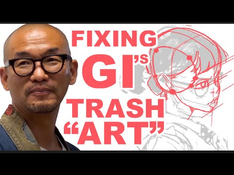 FIXING Kim Jung Gi's TRASH ART: DRAWING MORE WILL NEVER! EVER! MAKE YOU Better
