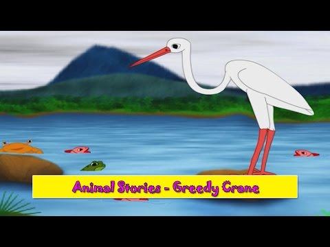 Greedy Crane   Lalchi Buglo   Animal Stories Gujarati for Kids   Gujarati Varta