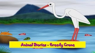 Greedy Crane | Lalchi Buglo | Animal Stories Gujarati for Kids | Gujarati Varta