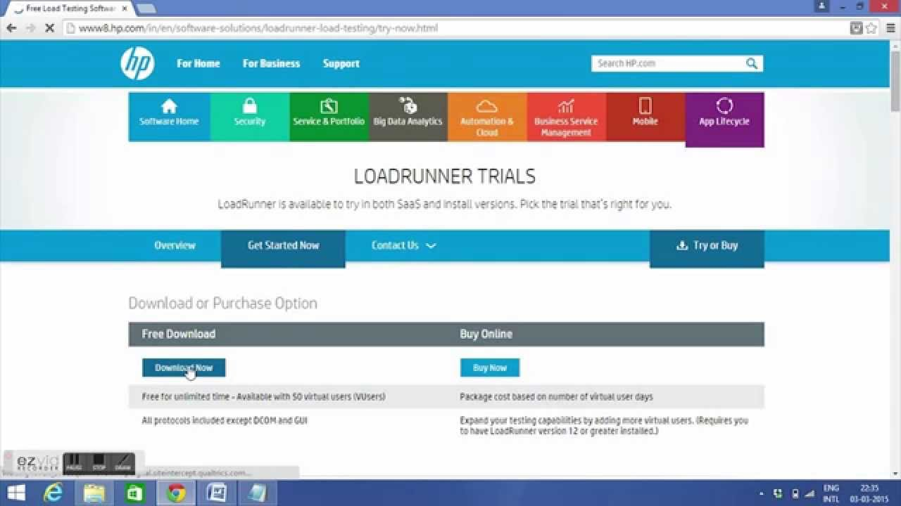 Downloading Hp Loadrunner Trial  Youtube