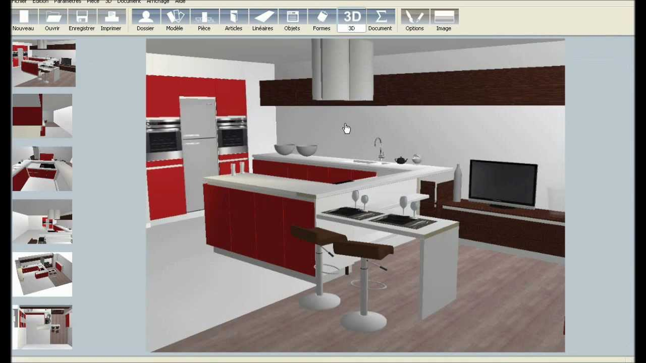 Logiciel de cuisine 3d youtube for Plans de conception de cuisine
