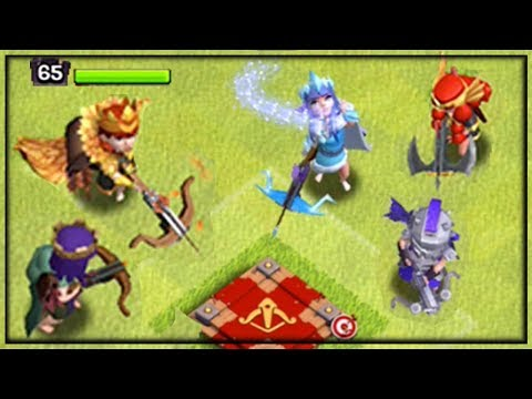 NEW ICE Archer Queen - ALL Queen Skins Battle Each Other - Clash Of Clans!