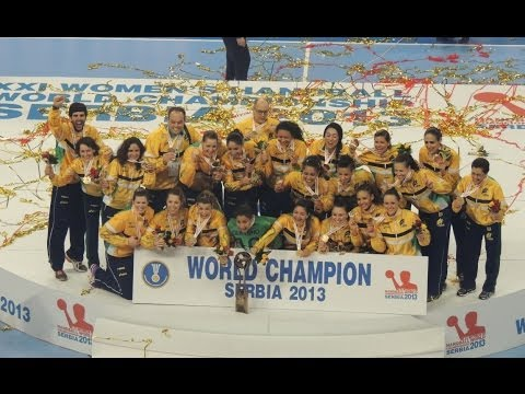 Women Handball World Champ Serbia 2013- Final - Brazil 22- 20 Serbia- The medal ceremony