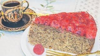 ПИРОГ С МАЛИНОЙ В ЖЕЛЕ - Рецепт кофейно-орехового теста