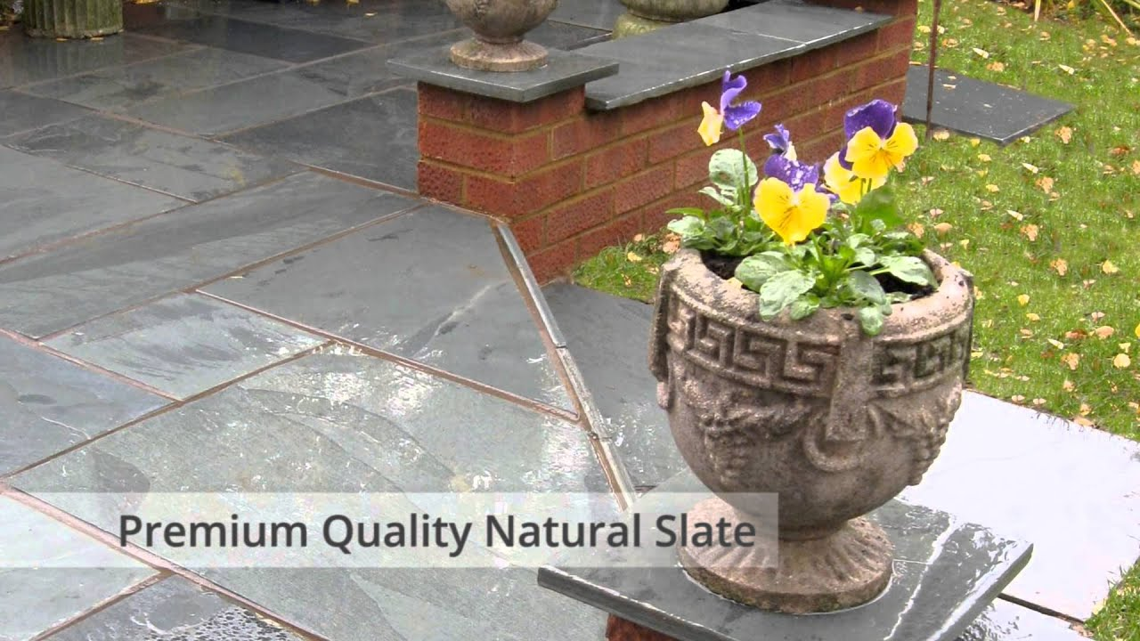 Slate Paving Patio Slabs   Natural Slate Paving Supplier Blue Black,  Rustic Copper Slate Stone   YouTube
