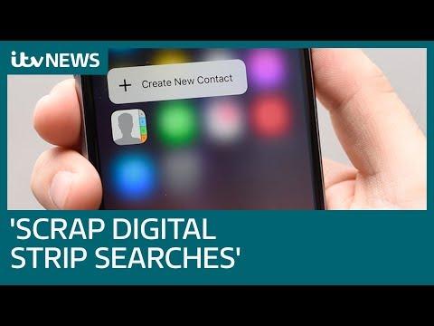 Scrap 'digital strip searches' say police bosses | ITV News
