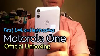 Motorola One | Moto P30 Play Official Hands-on unboxing! In White version Androidone 9.0 Pie |(4K)