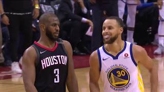 Chris Paul Drains Three-Pointer and Shimmies on Steph Curry