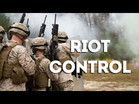 Non Lethal Weapons & Riot Control Training - Crowd Control Techniques Demonstration by US Marines