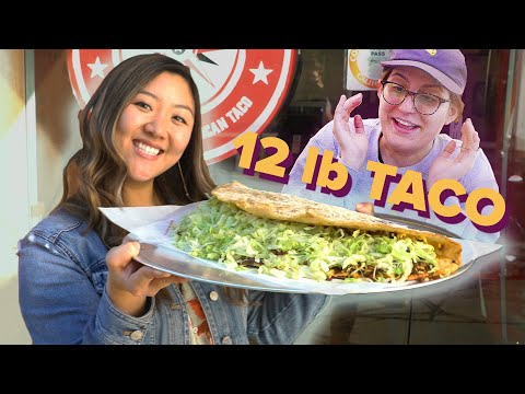 I Surprised My Friend With A Giant 12-Pound Taco • Giant Food Time