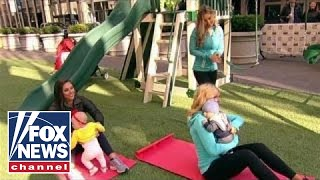 Baby fitness: Working out while having fun with kids