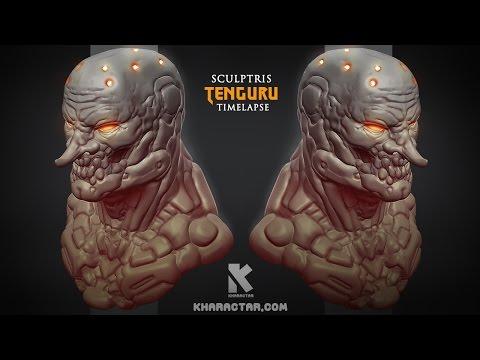 Sculptris Tenguru timelapse
