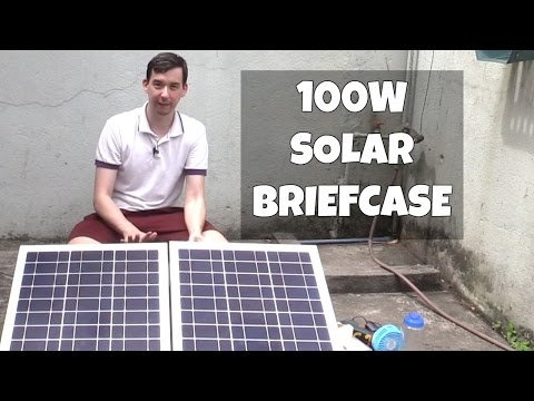 100W Solar Power Briefcase for Calamities