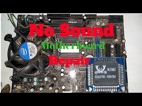 how to fix  no sound problem Computer Motherboard