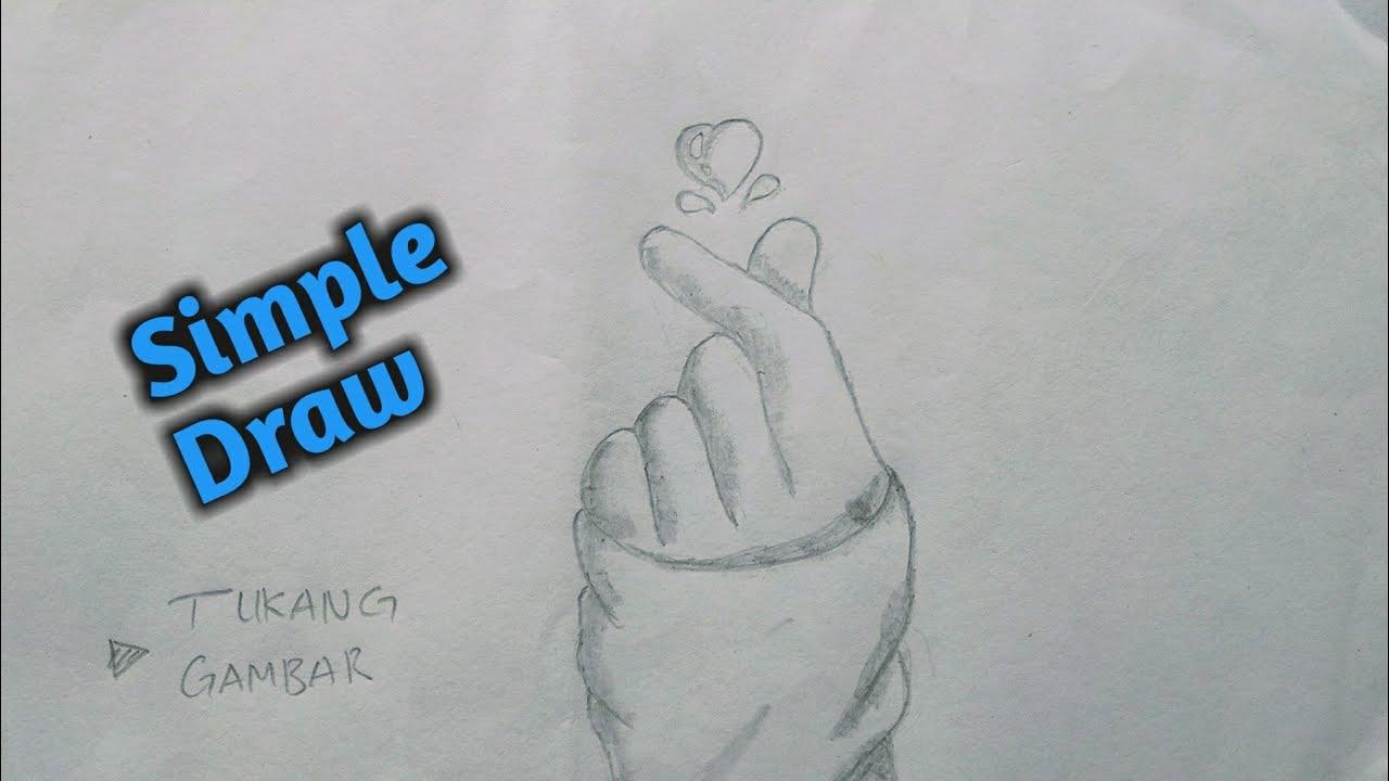 Cara Menggambar Tangan Love Tumblr Korean Finger Heart Simple Draw Tukang Gambar Youtube