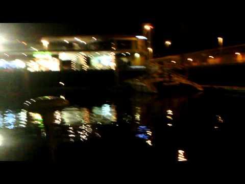 La Palma marina at night