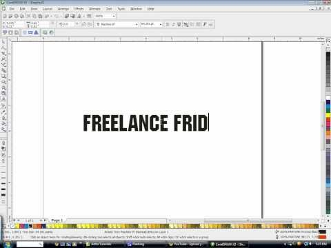 How to create outlines and shine text in CorelDraw with Freelance Fridge
