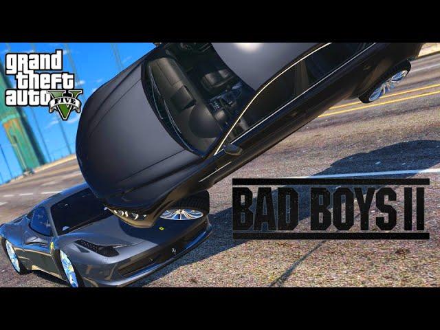 Bad Boys Ii Ferrari Chase Scene Gta V Machinima Youtube