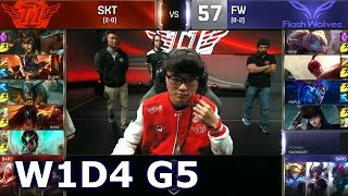 SKT vs FW - Worlds 2016 W1D4 Group B | LoL S6 World Championship Week 1 Day 4 SKT T1 vs Flash Wolves