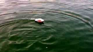 Cruising On First Rc Balsa Wood Boat Model! Wave Runner