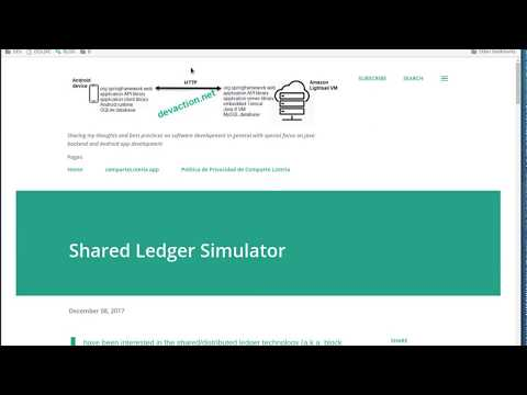 Shared Ledger Simulator