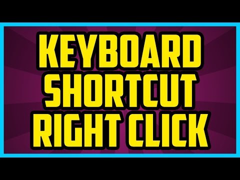 How To Right Click With Keyboard Windows 10 (EASY) What Is The Keyboard Shortcut For Right Click?