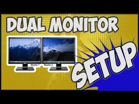 how to setup dual monitors windows 10