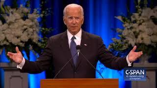 Former Vice President Joe Biden Tribute To Senator John Mccain  C-span