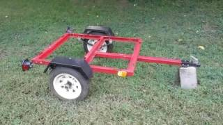 Haul Behind Any Vehicle (Dirtbike) Motorcycle Trailer  ( Harbor Freight Mini Trailer ) Build Part#1