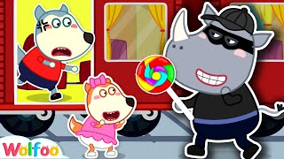 No No, Don't Go with Strangers + More Kids Safety Tips Compilation   Wolfoo Channel Kids Cartoon