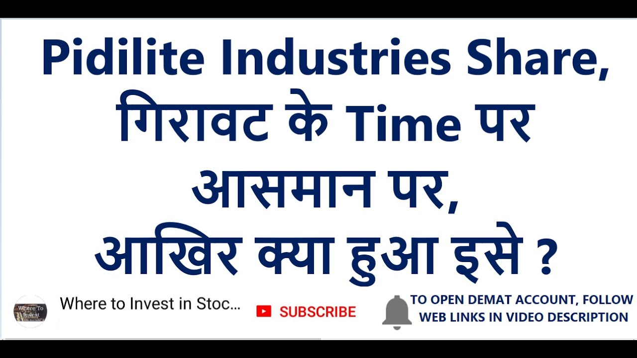 Pidilite Industries Share ग र वट क Time पर आसम न पर Long Term Investment In Stocks Youtube
