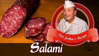 Salami DIY - make your own sausage - mature Salami - spice coating - Opa Jochen´s Rezept
